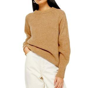 TOPSHOP Crewneck Sweater Camel (Tan) Size Small